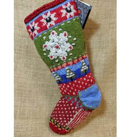 Lost Horizons Knit Christmas Stocking Snowflake