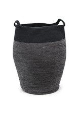 Ten Thousand Villages CLEARANCE Black Jute Hamper, Bangladesh