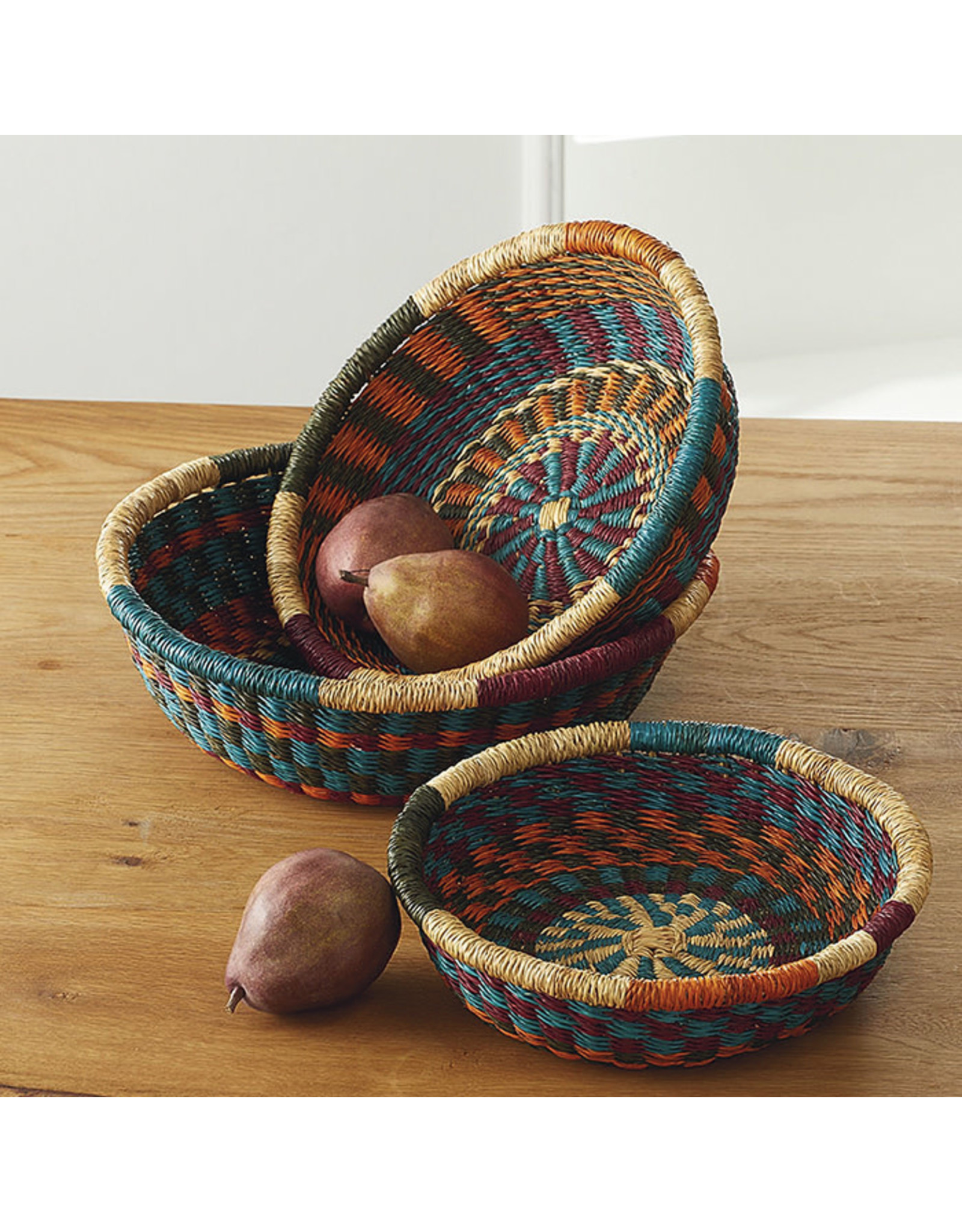 SERRV Nesting Spoke Baskets, set of 3