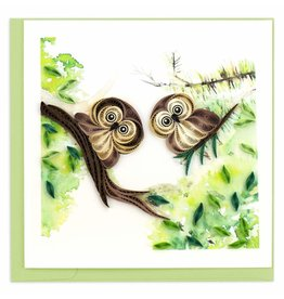 quillingcard Quilled Owlets Greeting Card