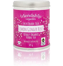 Friendship Organics Friendship Organics Lemon Ginger Rose Herbal Tea Tin