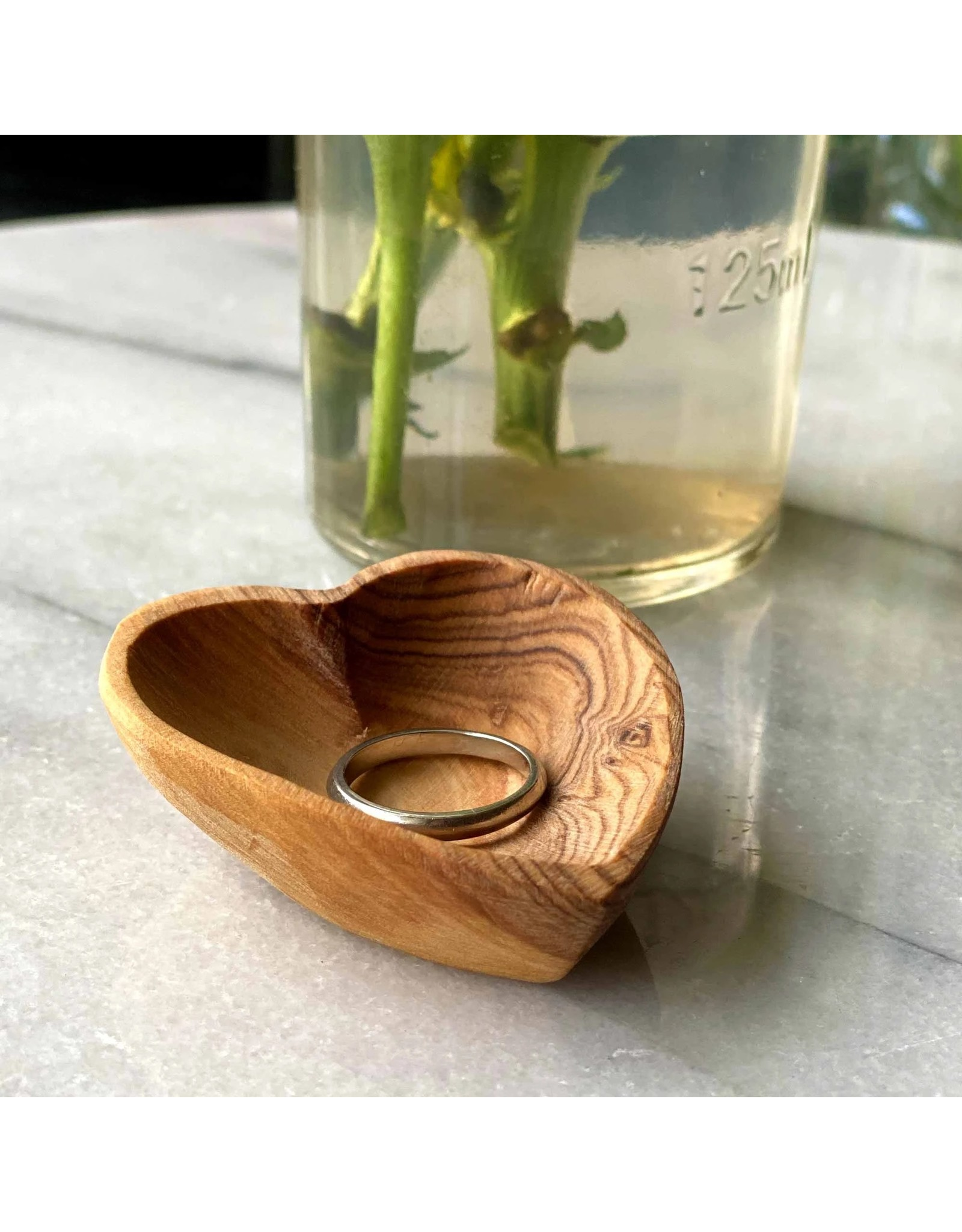 Global Crafts Petite Olivewood Heart Bowl, Kenya