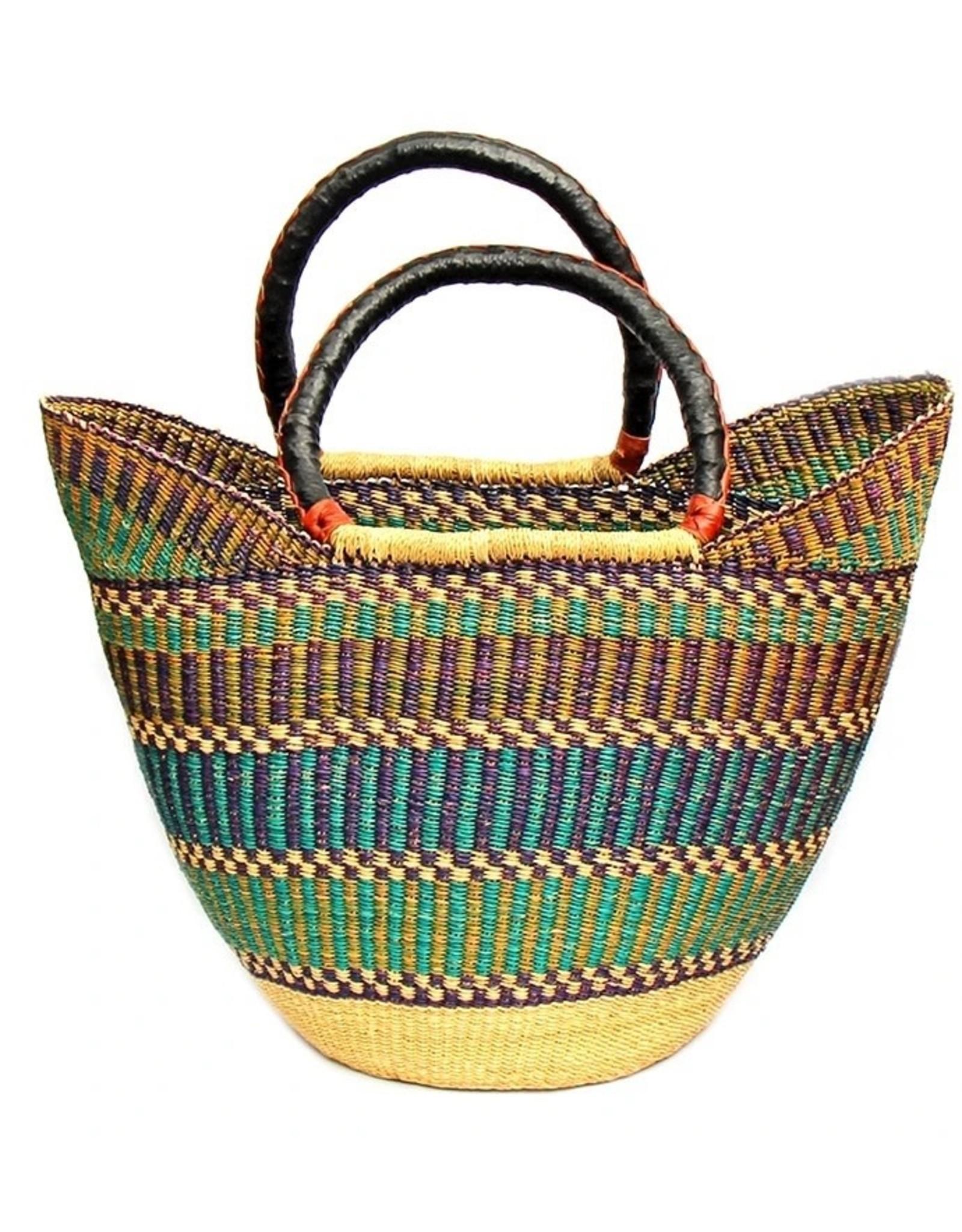 Global Crafts Bolga Tote, Mixed colours. Ghana