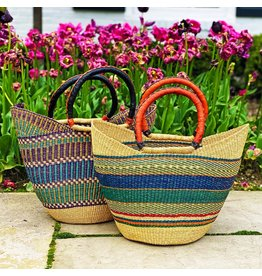 Global Crafts Bolga Tote, Mixed colours. Ghana