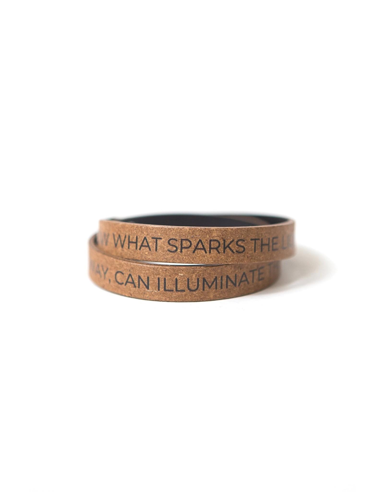 Fair Anita Illuminate the World Leather Wrap Bracelet, South Africa