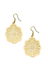 Matr Boomie Viti Gold Filigree Flower Earrings, India