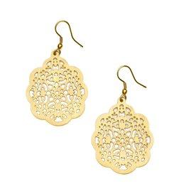 Matr Boomie Viti Gold Filigree Flower Earrings, India