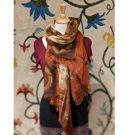Sevya Reena Printed wool shawl, Om