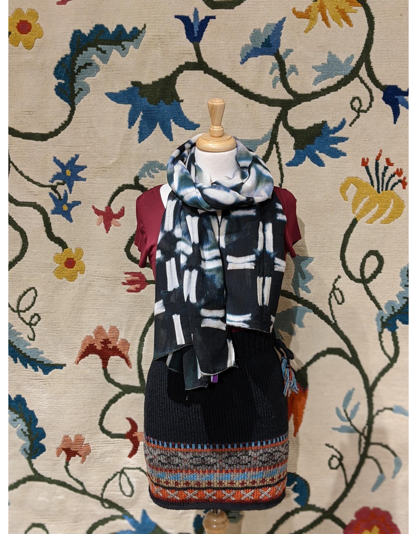 Sevya Shibori Wool Shawl