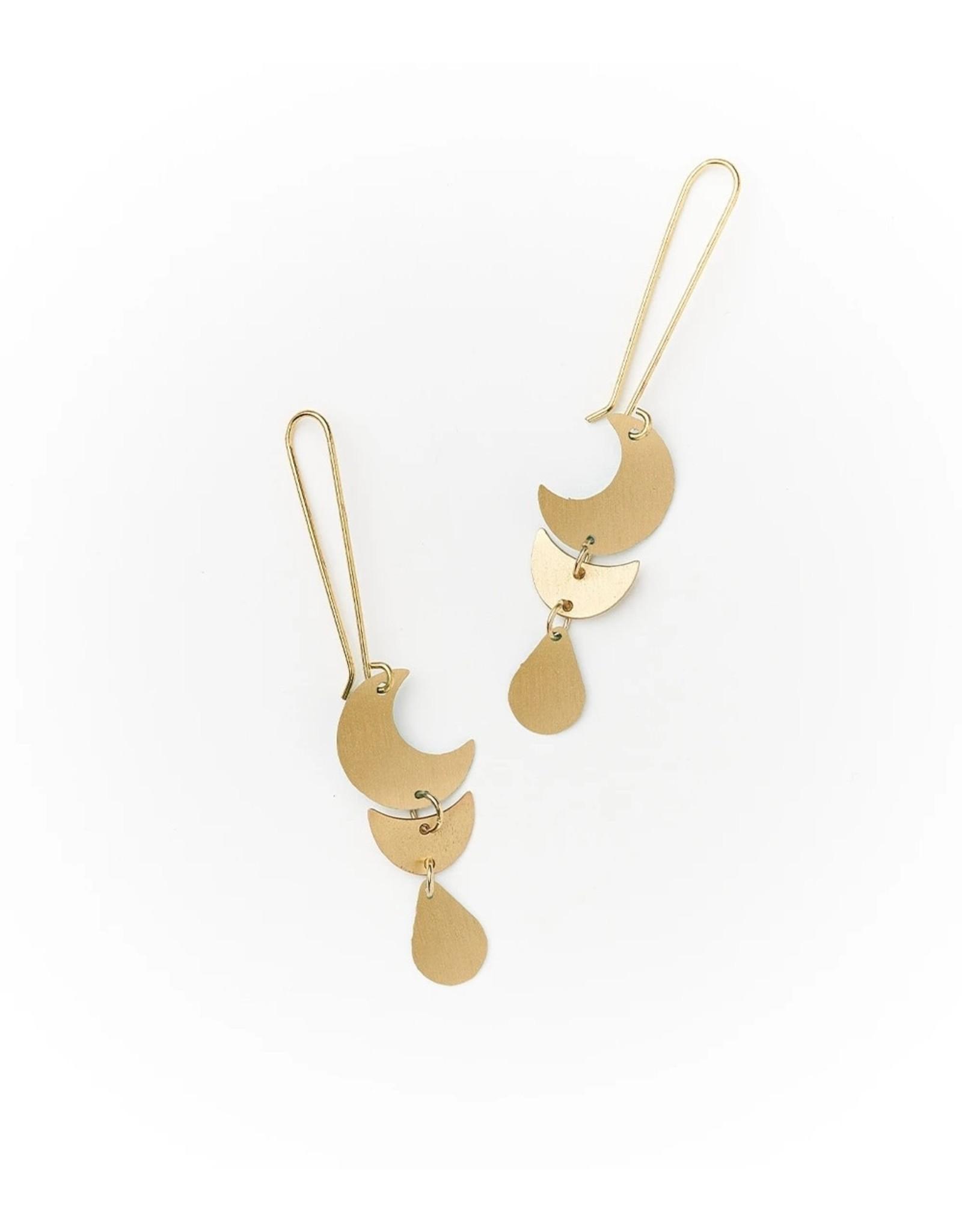 Matr Boomie Rajani earrings, Gold Drop, India