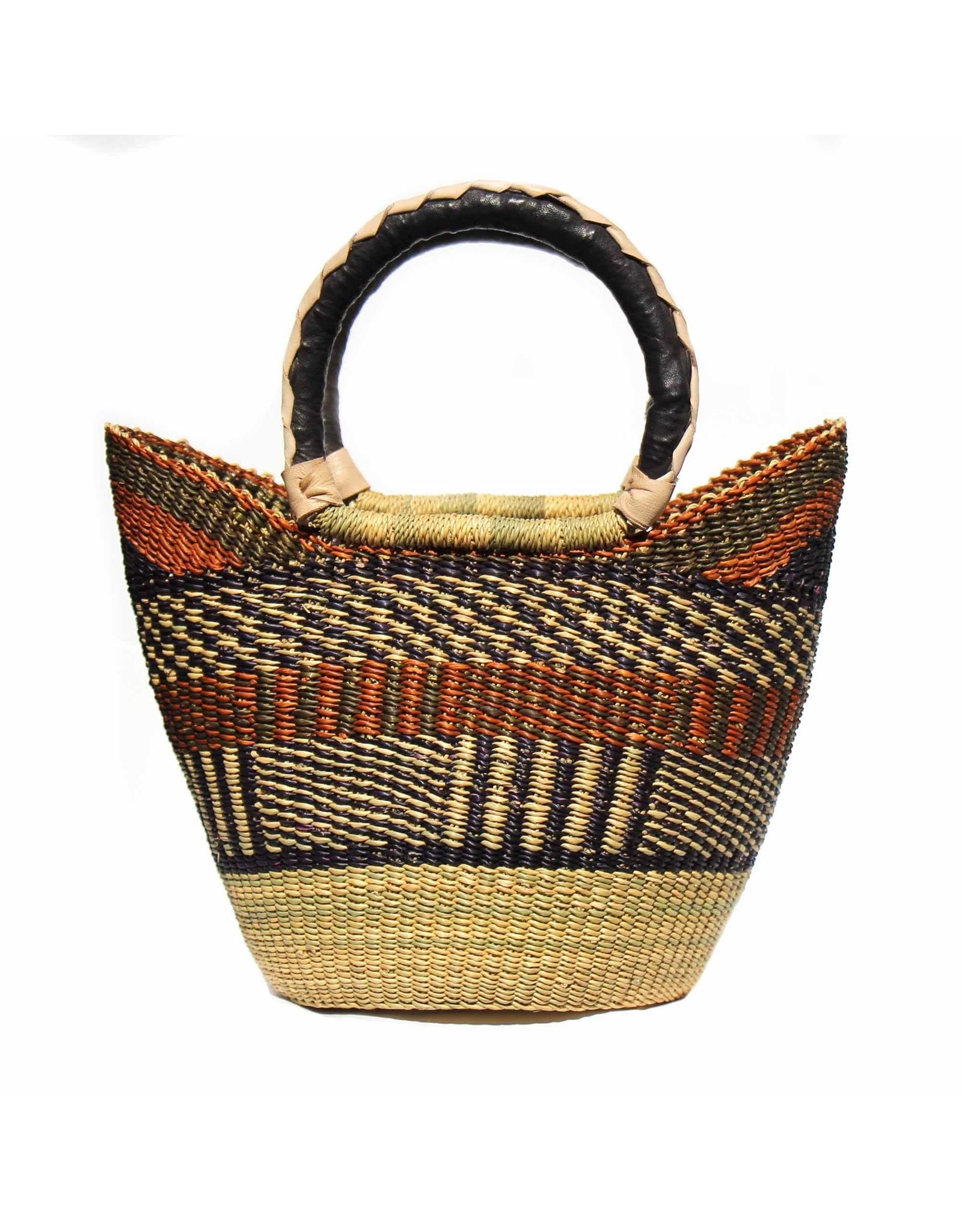 Global Crafts Bolga Tote, Neutral tones. Ghana