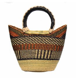 Global Crafts Bolga Tote, Neutral tones. Ghana
