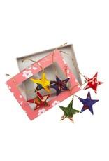 TTV USA Sari Star Ornament Set of 6, Bangladesh