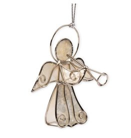 TTV USA Herald Angel Capiz Ornament, Phillipines