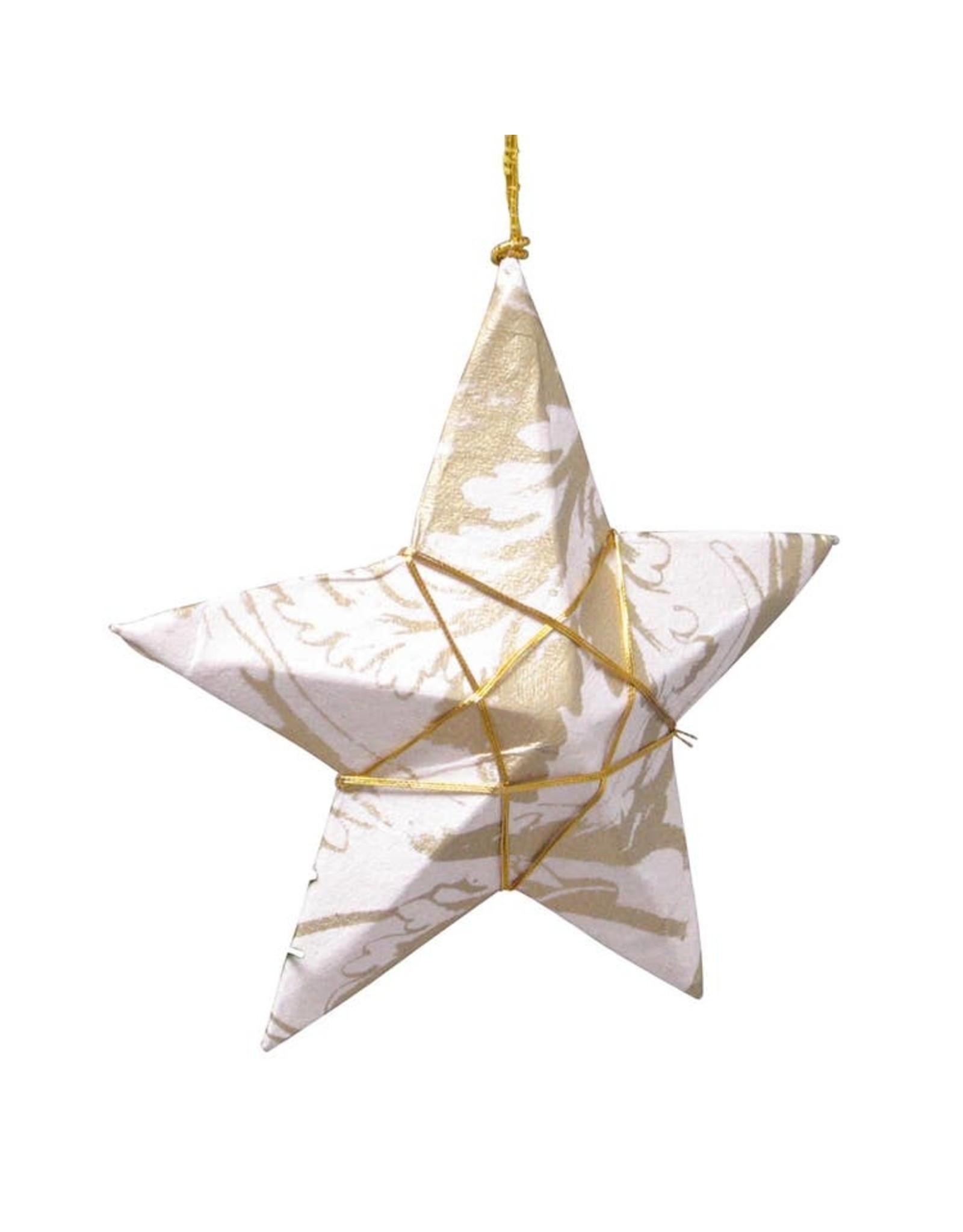TTV USA Gold Paper Star Ornament, Bangladesh