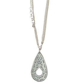 Fair Anita Jali Cutout Bone Necklace, India