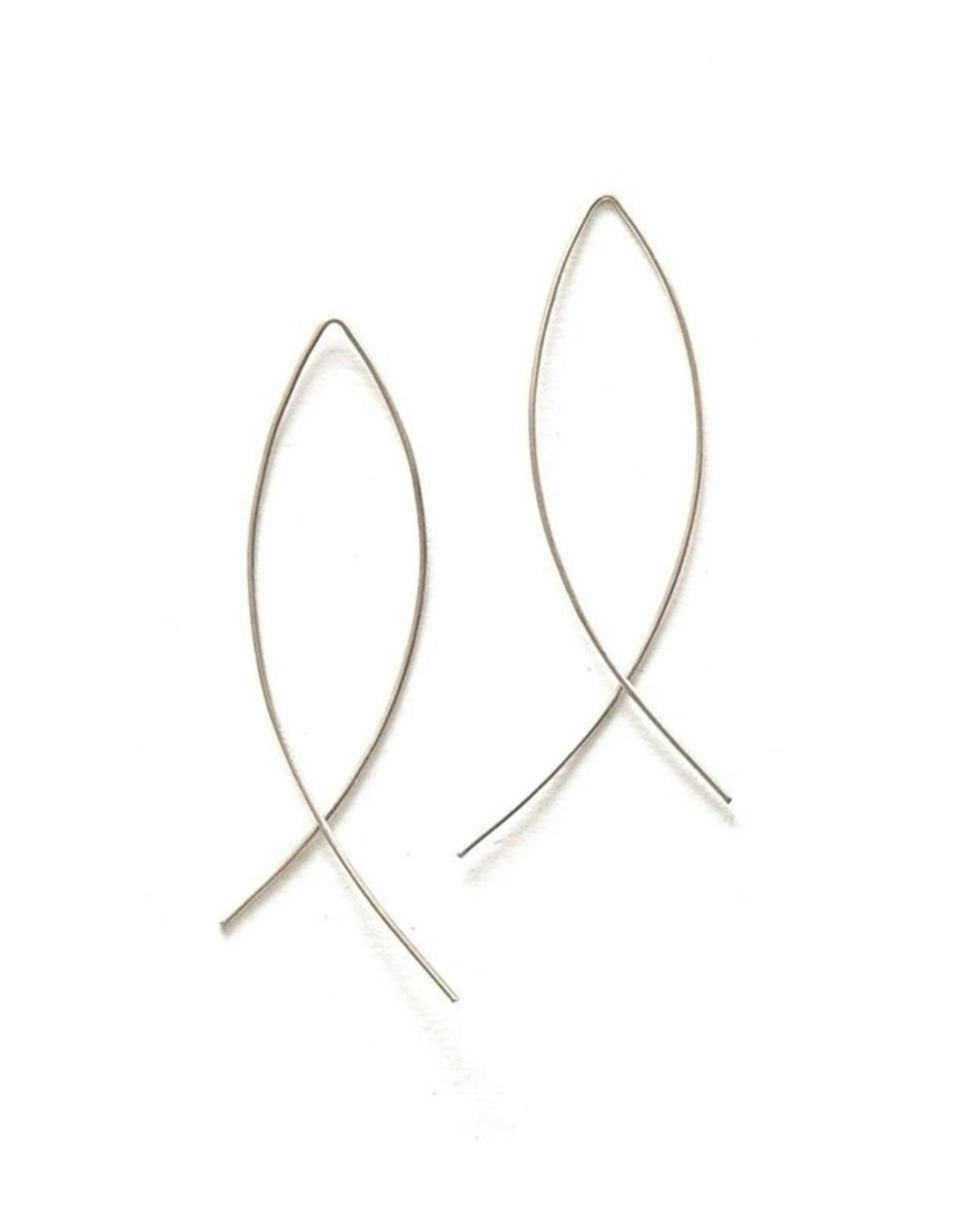 Fair Anita Cambered Sterling Hoop Earrings, India