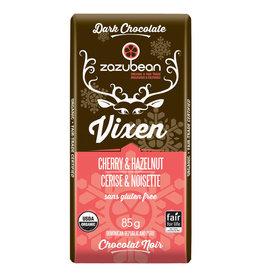Zazubean Zazubean Vixen - Dark Choc Bar Cherry Hazelnut 85g