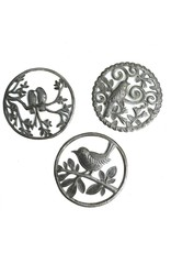 Papillon Birds in Trees small cut metal art, assorted