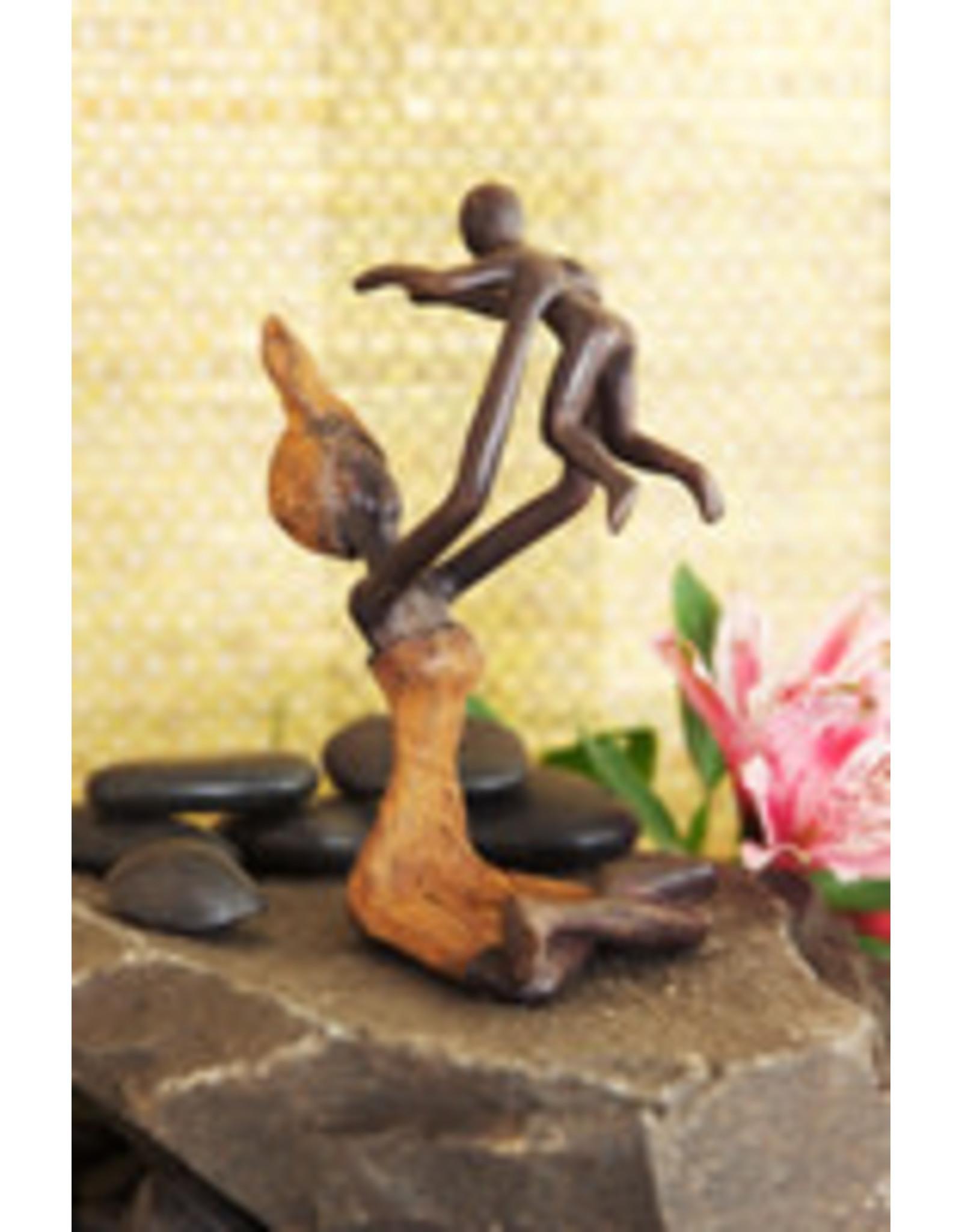 Swahili Wholesale Playtime Lost Wax Sculpture, Burkina Faso