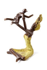 Swahili Wholesale Playtime Lost Wax Sculpture, Burkina Faso