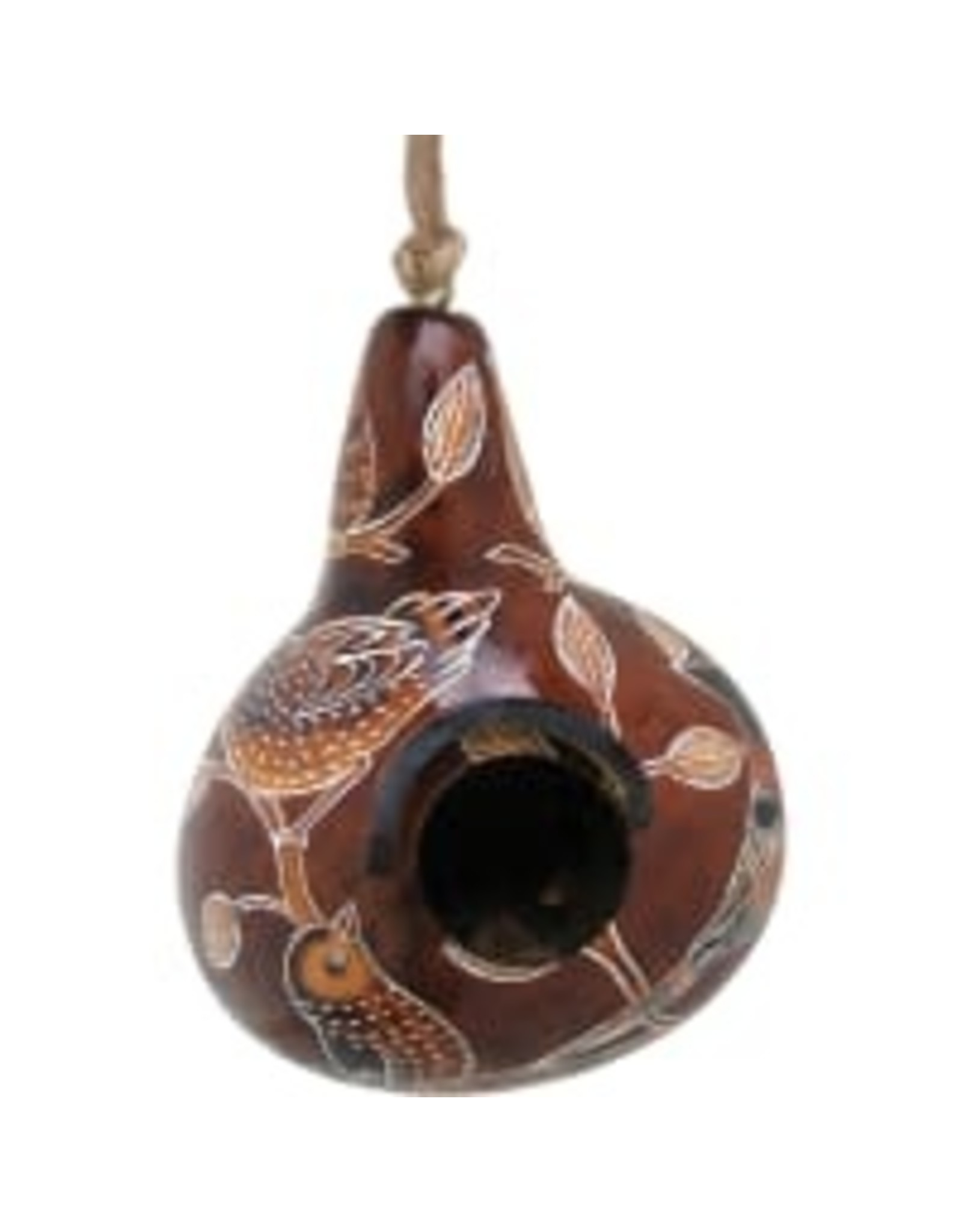 Lucuma Small Gourd Birdhouse, assorted. Peru