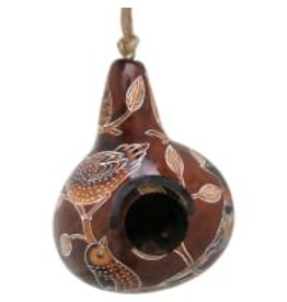 Lucuma Small Gourd Birdhouse, assorted. Peru