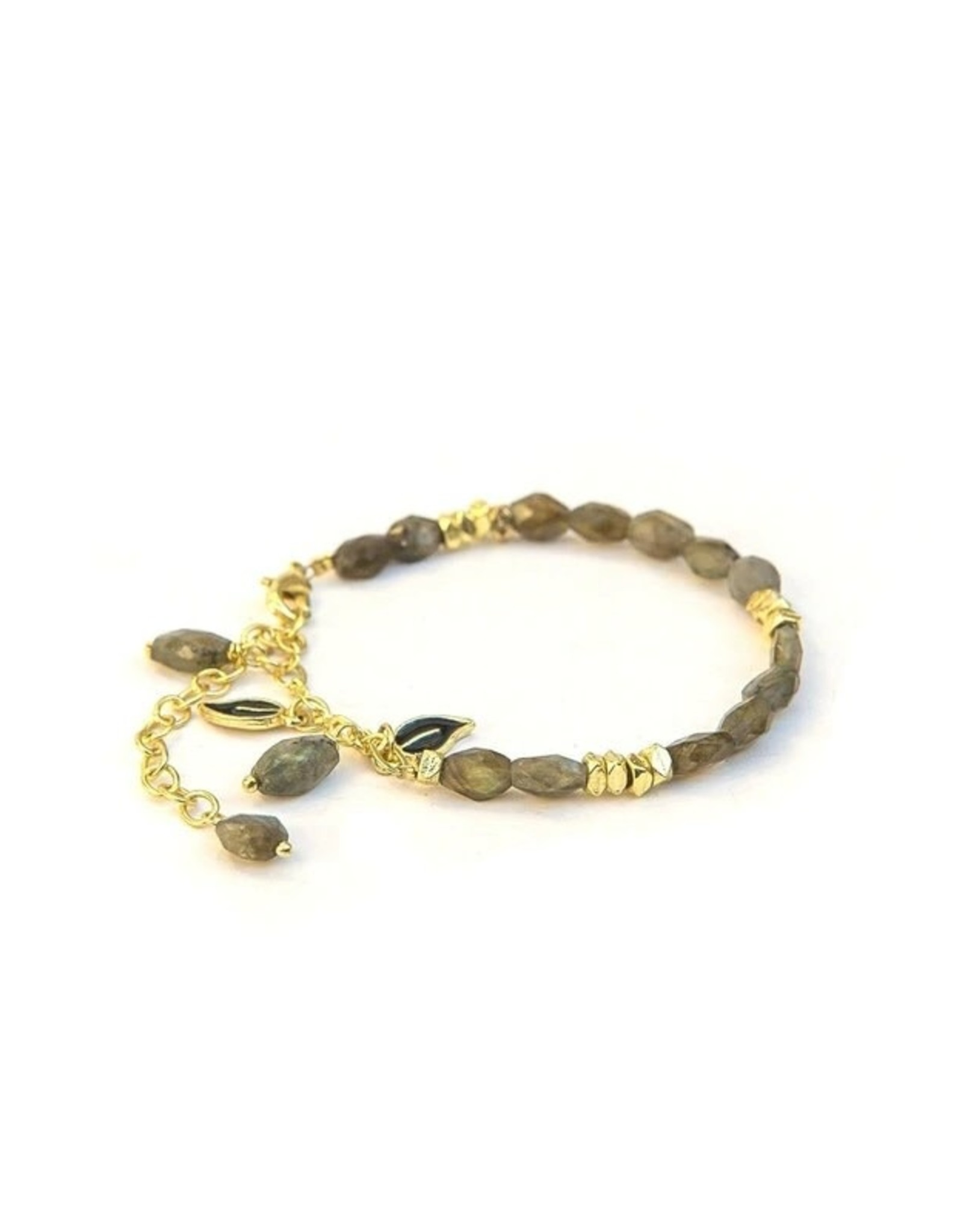 Fair Anita Labradorite Leaves Bracelet, India