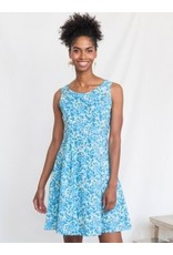 Vignette Dress, Blue Floral. Nepal