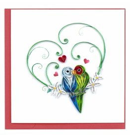 quillingcard Quilled Lovebirds Card, Vietnam