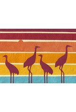 Good Paper Herons at Dusk Greeting Card, Rwanda