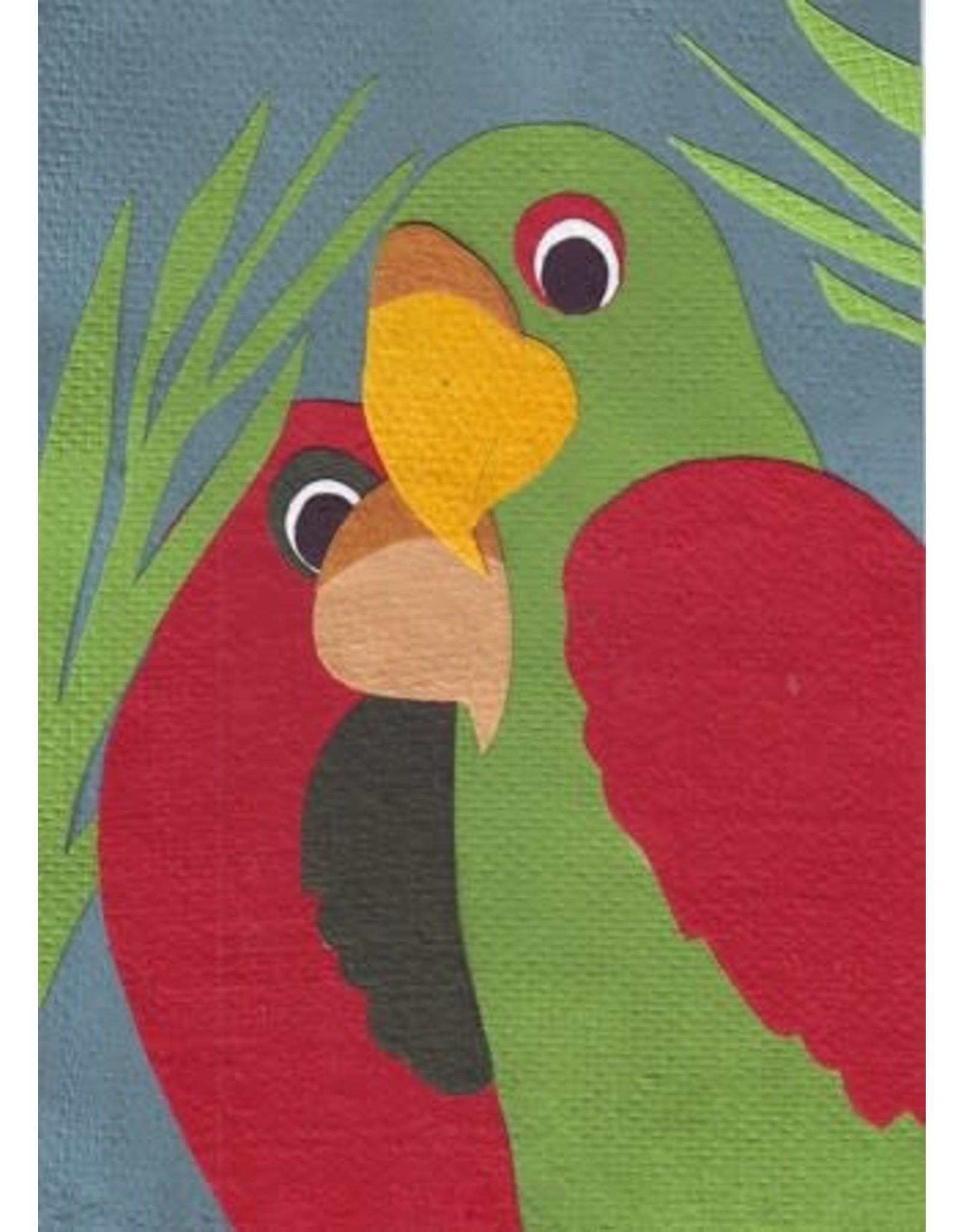 Good Paper Birds of a Feather Greeting Card, Rwanda