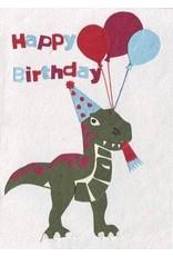 Good Paper Dino Birthday Greeting Card, Rwanda