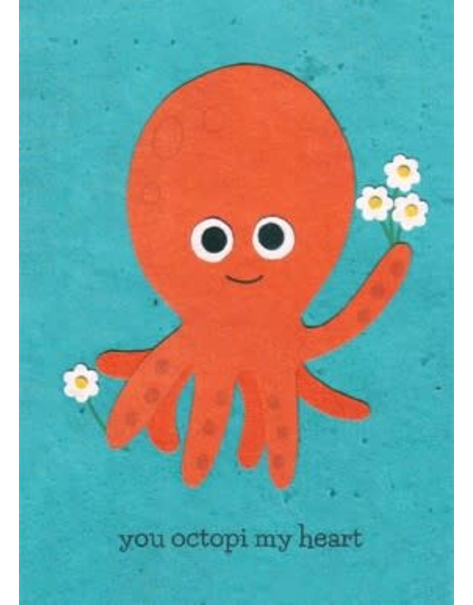 Good Paper Octopi my Heart Greeting Card, Rwanda