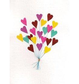 Good Paper Heart Balloon Greeting Card, Rwanda
