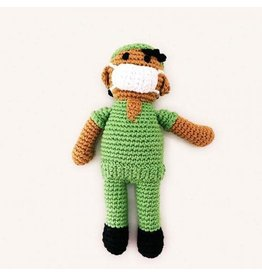 Pebble Hospital Hero Rattle, Green. Bangladesh.