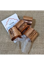 Ten Thousand Villages CLEARANCE Copper Napkin Rings, set of 4. India.