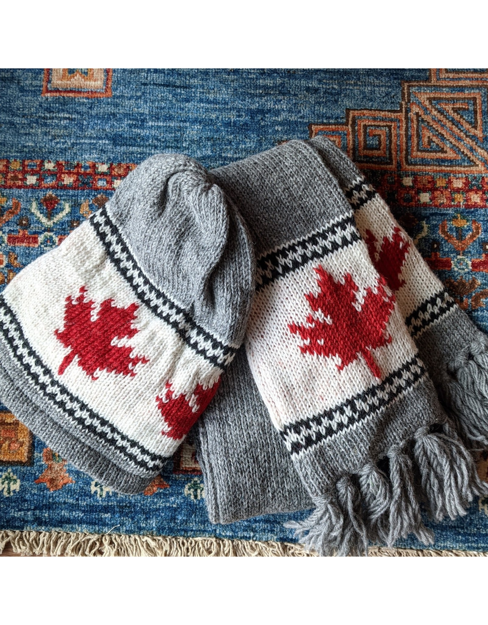 Ten Thousand Villages CLEARANCE Grey Canada Scarf, Nepal