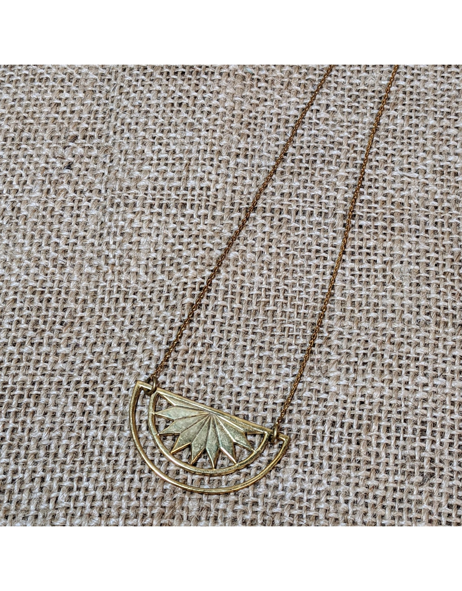 Ten Thousand Villages CLEARANCE Sun Ray Resilience Necklace, Cambodia