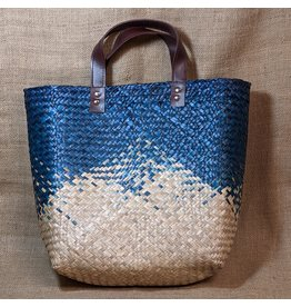 Ten Thousand Villages Navy Seagrass Bag