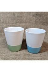 Ten Thousand Villages CLEARANCE Blue Bottom Ceramic Mug, Vietnam