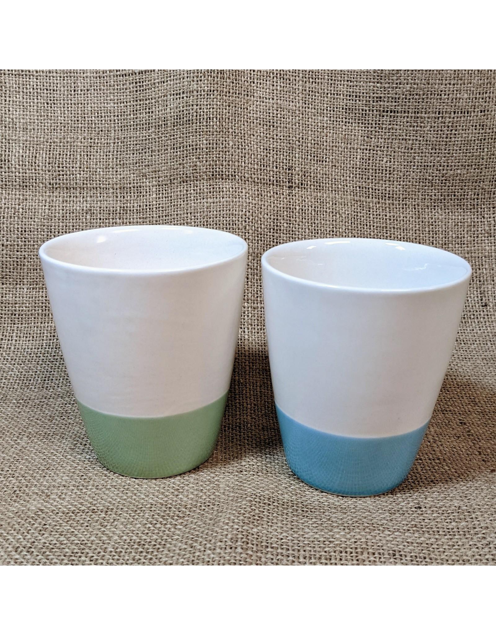Ten Thousand Villages CLEARANCE  Green Bottom Ceramic Mug, Vietnam