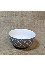 Ten Thousand Villages CLEARANCE  Etched Grey Ceramic Bowl, Vietnam