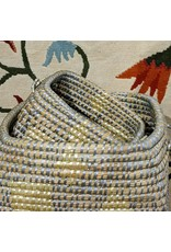 Ten Thousand Villages CLEARANCE Yellow Block Kaisa Grass Basket (S), Bangladesh