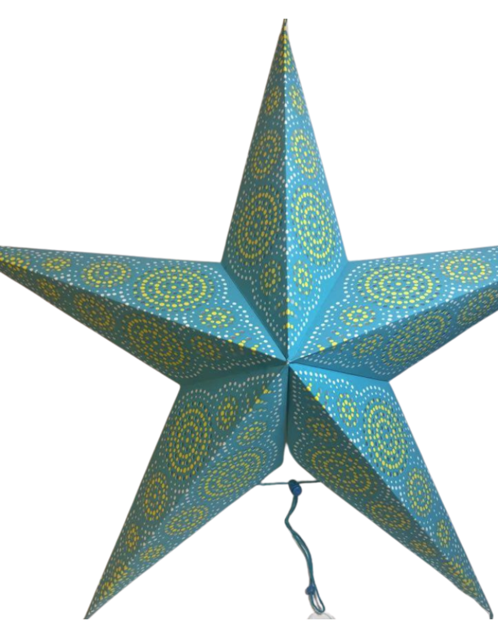 Ten Thousand Villages CLEARANCE Turquoise Paper Star Ornament, India