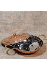 Ten Thousand Villages CLEARANCE Lidded Copper Curry Pot, India