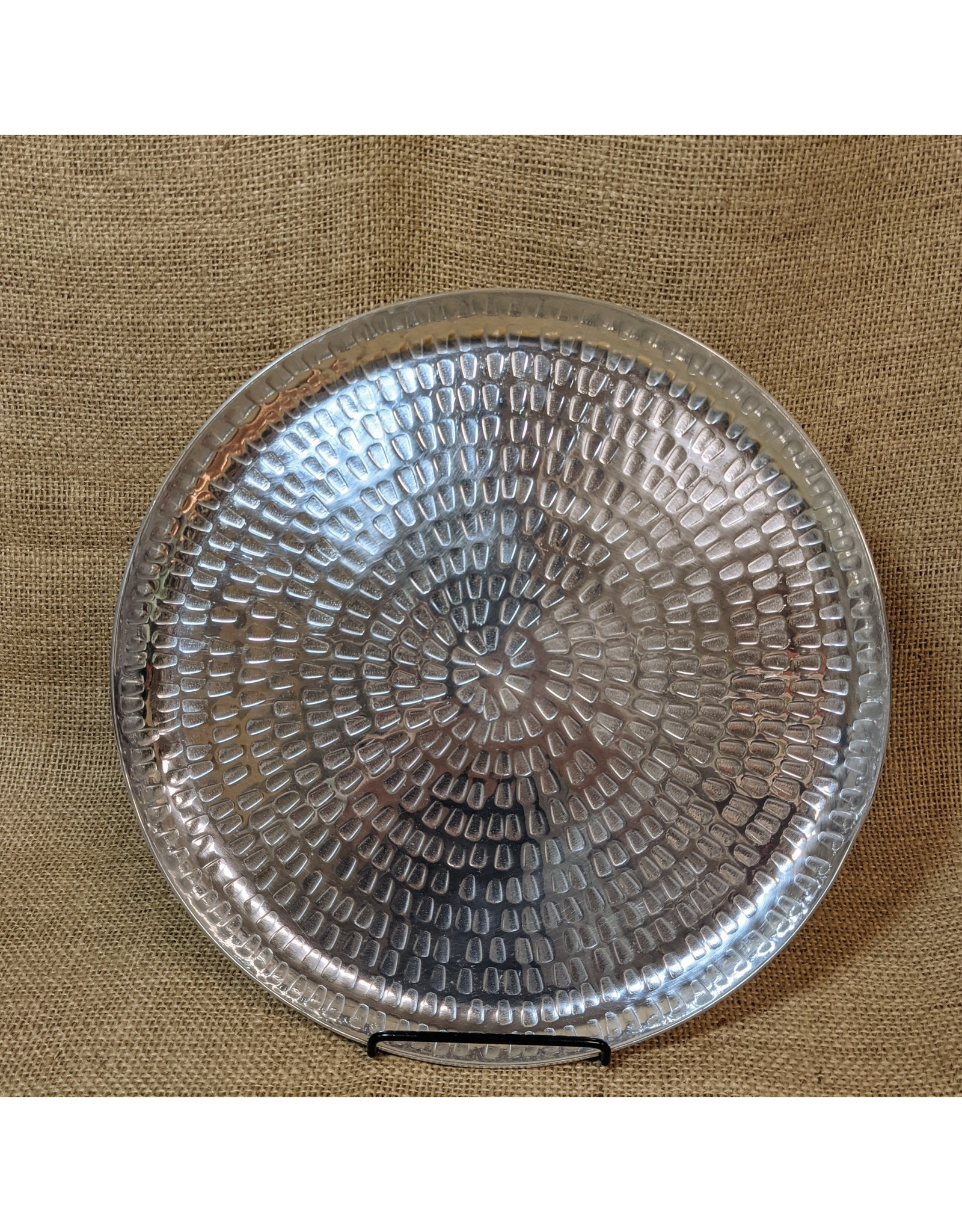 Ten Thousand Villages CLEARANCE Round Aluminum Serving Tray, India