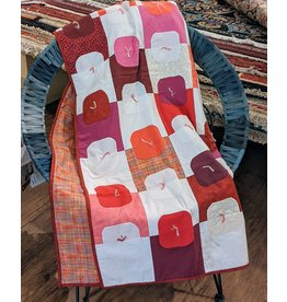 Ten Thousand Villages CLEARANCE All Reds Dotted Peace Quilt, Haiti