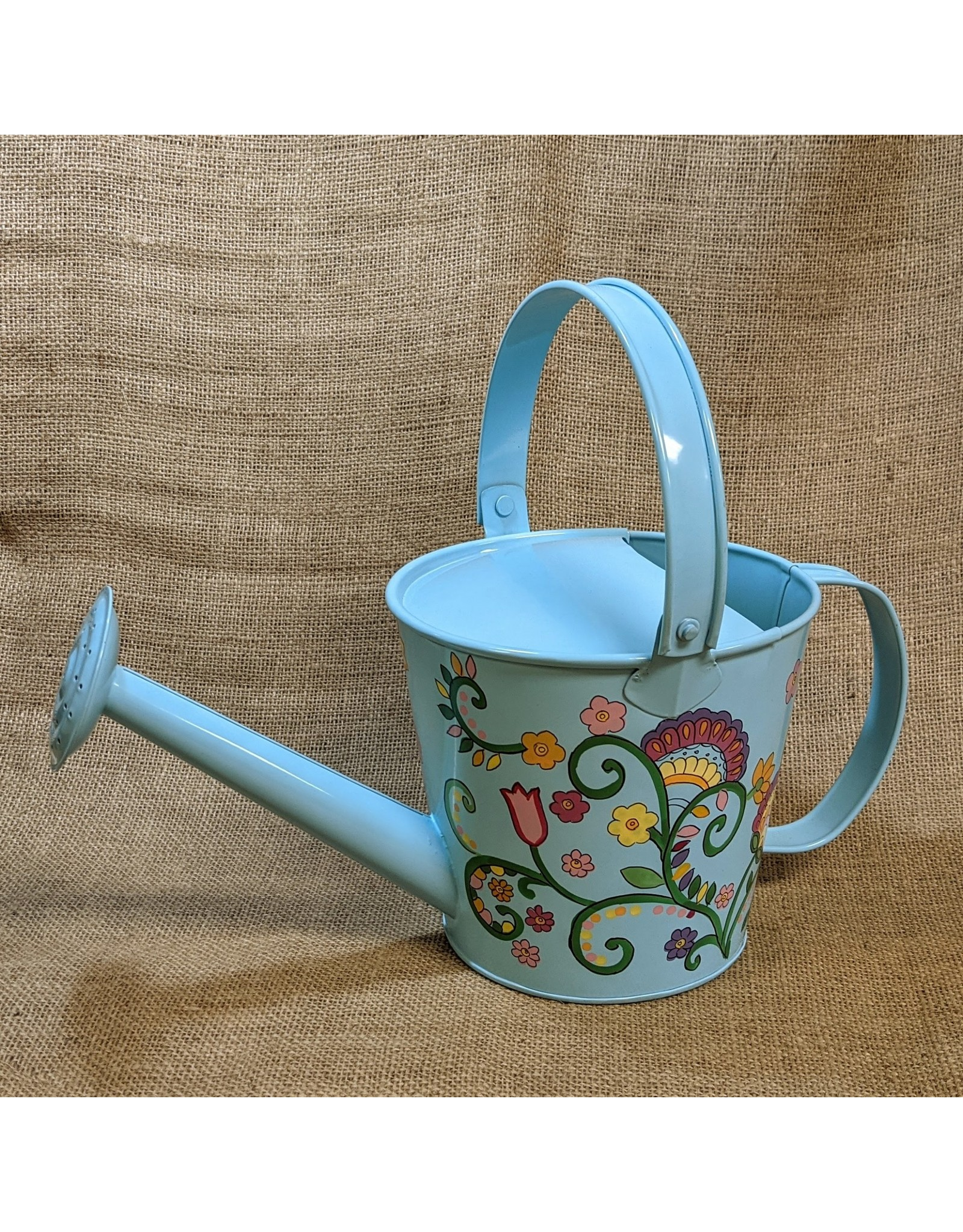 Ten Thousand Villages CLEARANCE  Watering Can Turquoise/Floral, India