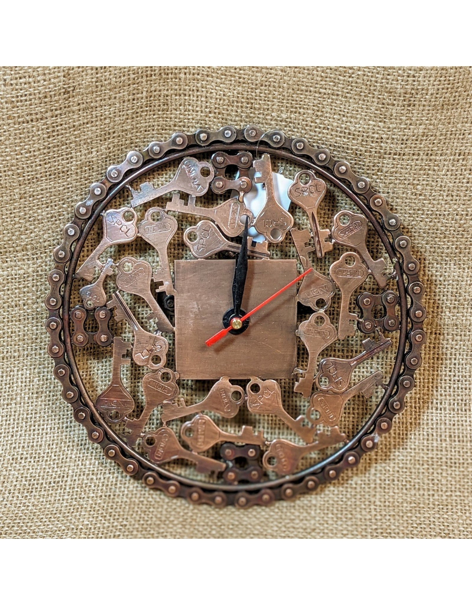 Ten Thousand Villages CLEARANCE  Bicycle Chain Clock, India
